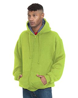 Adult Super Heavy Thermal-Lined Full-Zip Hooded Sweatshirt-Bayside