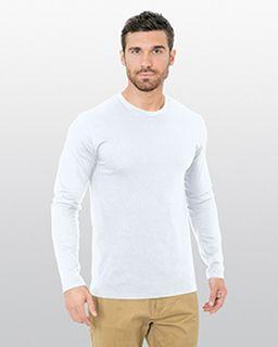Unisex Fine Jersey Long-Sleeve Crew T-Shirt-