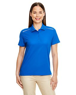 Ladies Radiant Performance Pique Polo With Reflective Piping-Ash City - Core 365