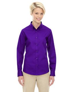 Ladies Operate Long-Sleeve Twill Shirt-Ash City - Core 365