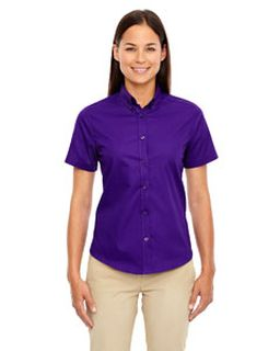 Ladies Optimum Short-Sleeve Twill Shirt-Ash City - Core 365