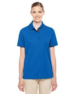 Ladies Motive Performance Pique Polo With Tipped Collar-Ash City - Core 365