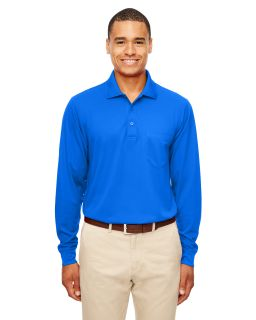 Adult Pinnacle Performance Long-Sleeve Pique Polo With Pocket