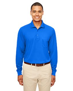 Adult Pinnacle Performance Long-Sleeve Pique Polo With Pocket-Ash City - Core 365