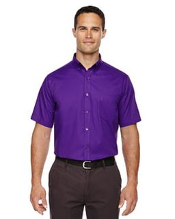 Mens Optimum Short-Sleeve Twill Shirt-Ash City - Core 365