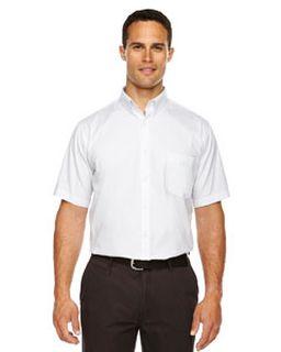 Mens Tall Optimum Short-Sleeve Twill Shirt-Ash City - Core 365