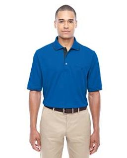 Mens Motive Performance Pique Polo With Tipped Collar-