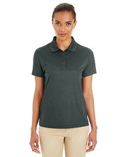 Ladies Express Microstripe Performance Pique Polo-Ash City - Core 365
