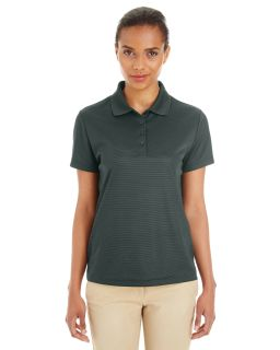Ladies Express Microstripe Performance Pique Polo
