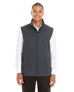 Mens Cruise Two-Layer Fleece Bonded Soft Shell Vest-Ash City - Core 365