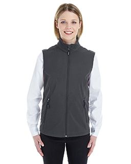Ladies Cruise Two-Layer Fleece Bonded Soft shell Vest-Ash City - Core 365