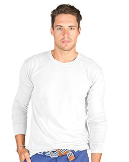 Adult 6.1 Oz. Cotton Long-Sleeve T-Shirt-Cotton Cloud