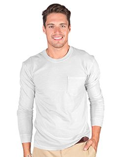 Adult 6.1 Oz. Cotton Long-Sleeve T-Shirt With Pocket-Cotton Cloud