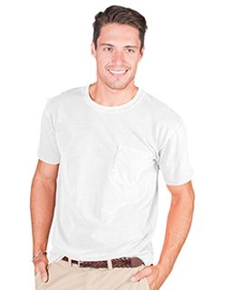 Adult 4.8 Oz. Cotton Short-Sleeve T-Shirt With Pocket-Cotton Cloud