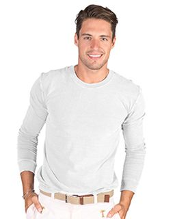 Adult 4.8 Oz. Cotton Long-Sleeve T-Shirt-Cotton Cloud