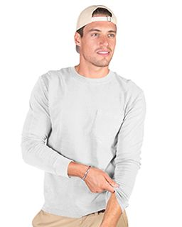 Adult 4.8 Oz. Cotton Long-Sleeve T-Shirt With Pocket-Cotton Cloud