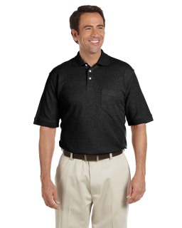 Performance Plus Pique Polo With Pocket-Chestnut Hill