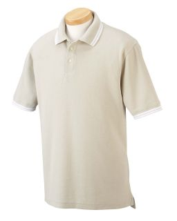 Mens Tipped Performance Plus Pique Polo-