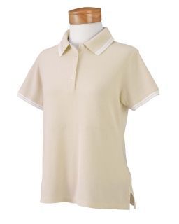 Ladies Tipped Performance Plus Pique Polo-