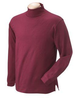 Pima Cotton Long-Sleeve Mock Neck-Chestnut Hill