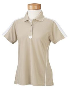 Ladies� Piped Technical Performance Polo-