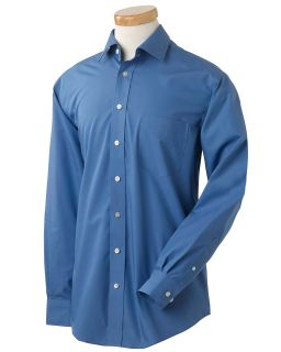 Mens Executive Performance Broadcloth With Spread Collar-