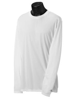 Adult 4.1 Oz. Double Dry® Long-Sleeve Interlock T-Shirt-