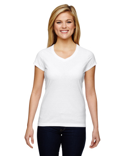 Ladies Vapor® Cotton Short-Sleeve V-Neck T-Shirt-Champion