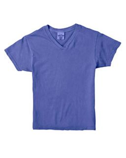 Ladies 4.8 Oz. Garment-Dyed V-Neck T-Shirt-