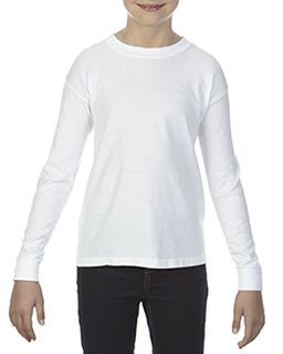 Youth 5.4 Oz. Garment-Dyed Long-Sleeve T-Shirt-