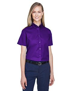 Ladies Optimum Short-Sleeve Twill Shirt-Core 365