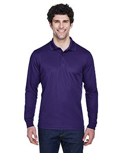 Mens Pinnacle Performance Long-Sleeve Pique Polo-Core 365