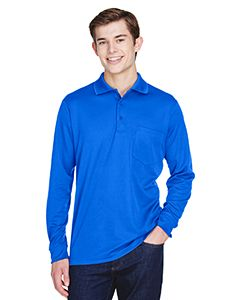 Adult Pinnacle Performance Long-Sleeve Pique Polo With Pocket-