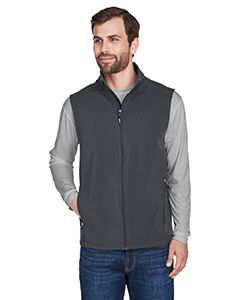 Mens Cruise Two-Layer Fleece Bonded Soft Shell Vest-Core 365