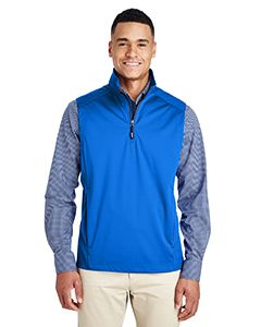 Mens Techno Lite Three-Layer Knit Tech-Shell Quarter-Zip Vest-
