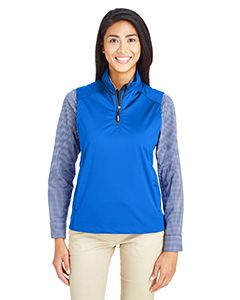 Ladies Techno Lite Three-Layer Knit Tech-Shell Quarter-Zip Vest-