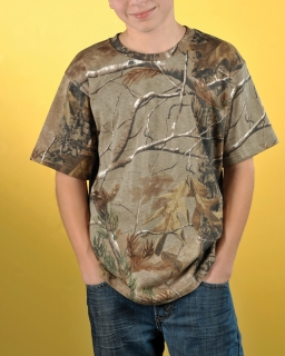 Youth Officially Licensed Realtree® Camouflage Short Sleeve T-Shirt-Code Five
