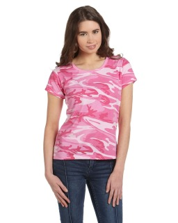 Ladies Camo T-Shirt-Code Five
