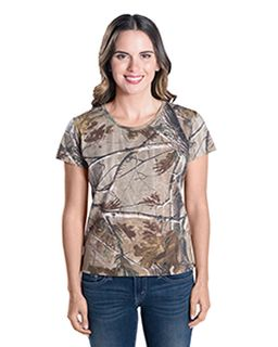 Ladies Realtree Camo T-Shirt-Code Five