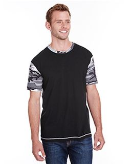 Mens Adult Fashion Camo T-Shirt-Code Five