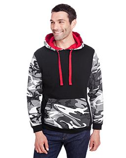 Mens Fashion Camo Hooded Sweatshirt-