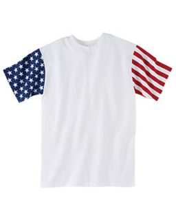 Mens Stars & Stripes T-Shirt-Code Five