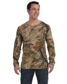 Mens Realtree® Long-Sleeve Camo T-Shirt-Code Five