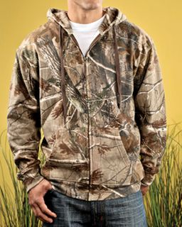 Mens Realtree® Camo Zip Fleece Hoodie-Code Five