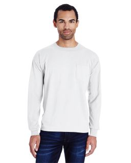 Unisex 5.5 Oz., 100% Ringspun Cotton Garment-Dyed Long-Sleeve T-Shirt With Pocket-