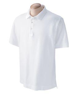 Mens Pima Pique Short-Sleeve Polo-Devon & Jones