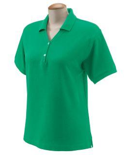 Ladies Pima Pique Short-Sleeve Y-Collar Polo-
