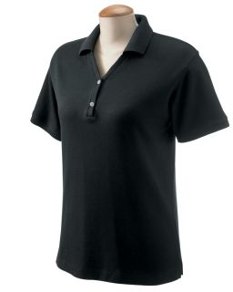 Ladies Pima Pique Short-Sleeve Y-Collar Polo-