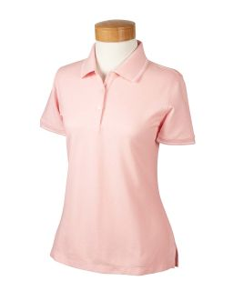 Ladies Pima Pique Short-Sleeve Tipped Polo-