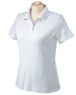 Ladies Solid Perfect Pima Interlock Polo-